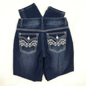 Vanilla Star Jeggings with stiching & rhinestones